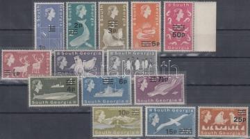 Definitive set with overprint Forgalmi sor felülnyomással