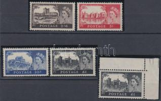 1955/1958 Forgalmi: Várak sor / Definitive set Mi 278 I-281 I + 281 II