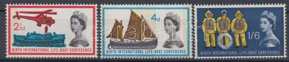 1963 Nemzetközi mentőcsónak konferencia sor / International life-boat conference Mi 359y-361y