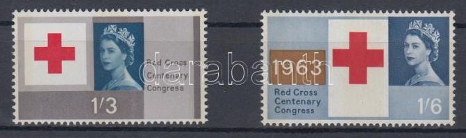 1963 100 éves a nemzetközi Vörös Kereszt bélyegek / Red Cross Mi 363y-364y
