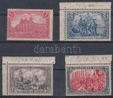 1905/1912 Forgalmi sor / Definitive set Mi 94 AI falcos / hinged + 95AI-97AI postatiszta / mint never hinged