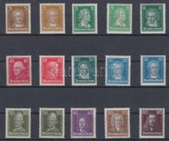 1926/1927 Forgalmi sor / Definitive set Mi 385-397