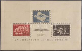 1945 Horvát légió blokk Mi 8
