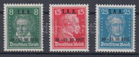 1927 Nemzetközi munkaügyi kongresszus sor felülnyomással Mi 407-409 / with overprint