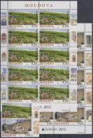 2012 Europa CEPT Látogasson Moldáviába Mi 793-794 + kisívpár