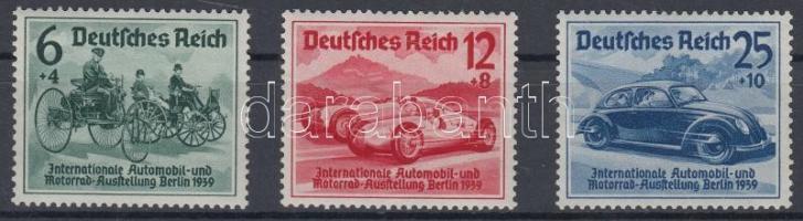 1939 Nemzetközi autókiállítás sor / International motor show set Mi 686-688