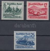 1939 Nürburgring-Rennen felülnyomással / with overprint Mi 695-697