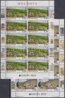 2012 Europa CEPT Látogasson Moldáviába Mi 793-794 kisívpár