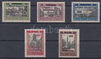 1932 Légiposta kiállítás sor felülnyomással / Air mail exhibition set with overprint Mi 231-235