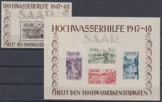 1948 Árvíz blokkpár Mi 1-2
