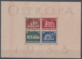 1935 OSTROPA blokk eredeti gumival Mi 3 / with original gum
