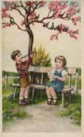 Singing and flut-playing children, Éneklő és furulyázó kisgyerekek