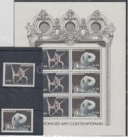 1993 Europa CEPT: Kortárs művészet sor Mi 2120-2121 + blokk 59