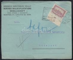 1924 (14. díjszabás) Helyi levél ÁRUMINTAVÁSÁR reklámbélyegzővel
