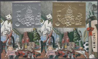 1993 Karácsony arany és ezüstfóliás blokk Mi 351-352 MINTA