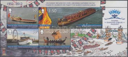 2012 II. Erzsébet trónra lépésének 60. évfordulója, hajófelvonulás a Temzén blokk Mi 84