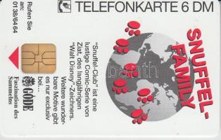 NSZK 1993 Snuffel family használatlan 6DM telefonkártyája