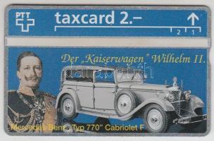 Svájc Mercedes Benz 770 Cabriolet használatlan Taxcard telefonkártya