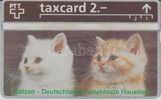Svájc Macskák használatlan Taxcard telefonkártya