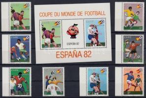 1981 Labdarúgó Világbajnokság 82 sor Mi 722-729 + blokk 40