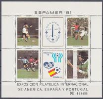 1981 Bélyegkiállítás, Labdarúgó Világbajnokság 82 blokk 28