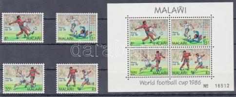1986 Mexikói labdarúgó világbajnokság sor Mi 465-468 + blokk Mi 66