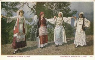 Attica, Greek folklore, costumes, Görög folklór Attica-ból