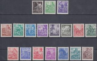 1953/1957 Forgalmi sor Mi 362-379