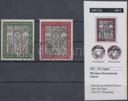 1951 Lübecki Mária templom sor tévnyomattal Mi 139-140 I