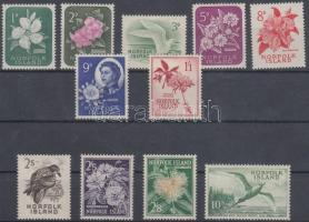 1960/1962 Forgalmi: Virágok és madarak sor Mi 26-36