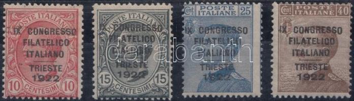 1922 Kongresszus sor felülnyomással Mi 153-156
