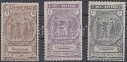 1923 Nemzeti milícia sor Mi 183-185 (betapadásnyom)