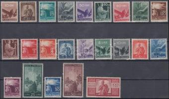 1945/1948 Forgalmi sor Mi 682 A-704 A