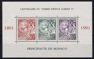 1991 100 éves az Albert fejes bélyeg Mi blokk 51