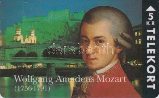 1994 Mozart 5KR használatlan telefonkártya. Példányszám: 2500