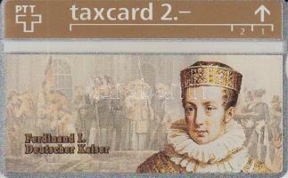 1993 Svájc I. Ferdinánd német császárt ábrázoló használatlan telefonkártya
