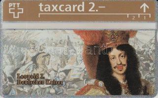 1993 Svájc I. Lipót német császárt ábrázoló használatlan telefonkártya