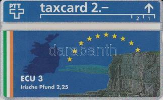1993 Svájc 3ECU használatlan telefonkártya