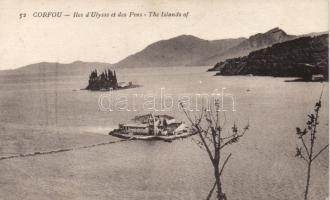 Corfu islands of Odysseus and Pins