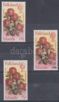 1968-1972 Őshonos virágok Mi 170, 201, 214