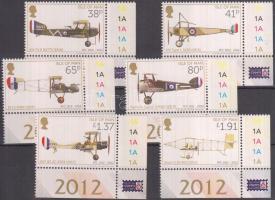 2012 Repülőgépek - 100 éves a Royal Flying Corps (RFC) Mi 1800-1805