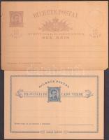 Portugália és gyarmatai 1900-as évekből 2 db használatlan díjjegyes levelezőlap