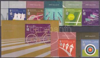 2012 Olimpia London ívsarki sor Mi 1743-1749 + blokk Mi 82