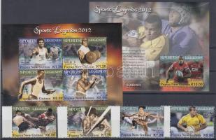 2012 Sportlegendák sor Mi 1806-1809 + kisív Mi 1810-1813 + blokk Mi 153