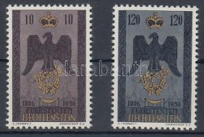 1956 150 éve független Liechtenstein Mi 346-347