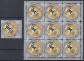 2010 Téli olimpia, Vancouver ívszéli bélyeg + kisív Mi 1625