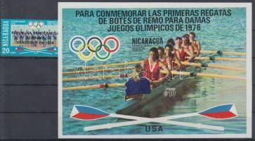 1976 Nyári olimpia, Montreal evezős bajnokok bélyeg Mi 1959 + blokk Mi 94