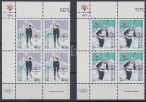 2002 Téli olimpia, Salt Lake City sor Mi 421-422 ívsarki négyestömbökben