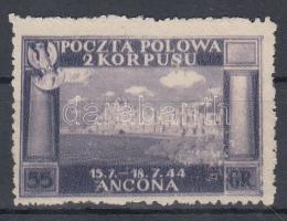 Lengyel hadtest / Polish corps 1946 55gr színtévnyomat kék helyett ibolya színben / colour error, violet for blue Sassone 6A/I