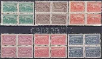 1945 Események Mi 379-384 négyestömbök